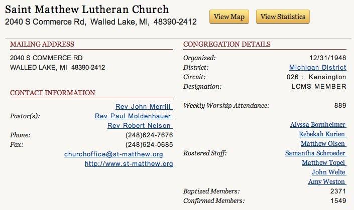 St.-Matthew-Statistics