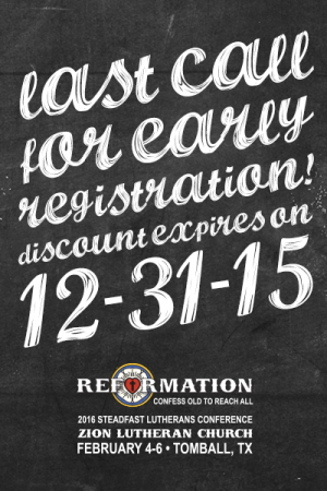Last Call — Register now for our Conference February 2016 — Confess Old to Reach All