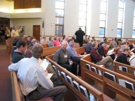 Prior to Pastor Klemet Preus' presentation.