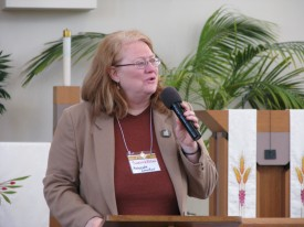 BJS Associate Director Suzanne Zobel introducing Mollie Hemingway