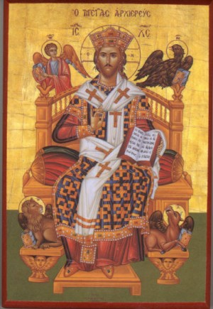 Christ High Priest Enthroned icon