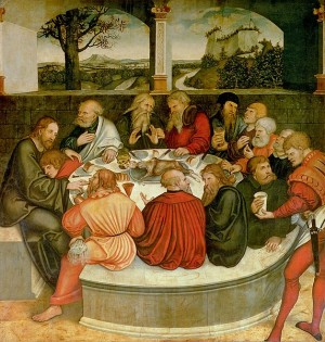 Lucas Cranach-Lord's Supper-Reformationaltar